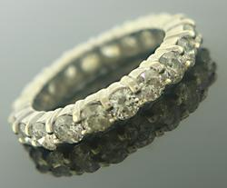 Attractive 3cts Prong Diamond Eternity Band
