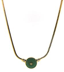 Fancy Diamond and Jade Necklace