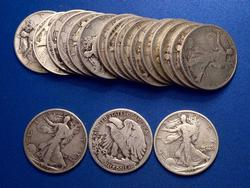 1 roll  Walking 50c  1917 to 1929s Good or Better