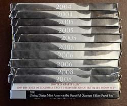12 Silver Quarters Proof Sets