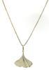 Ginko Leaf Pendant Necklace