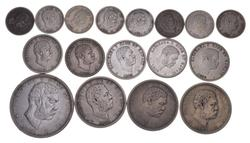 Lot (17) 1883 Hawaii Coinage - Dimes, Quarters, Half Dollars & Dollar