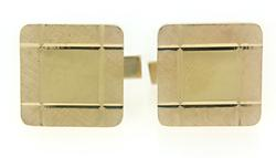 Gents Square Florentine Finish Cufflinks