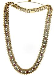 Luxurious Ruby & Diamond Vintage Necklace