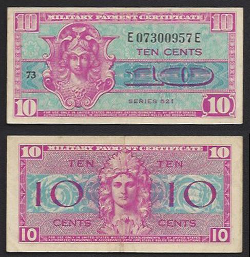 10 cent MPC Series 521 1954-1958