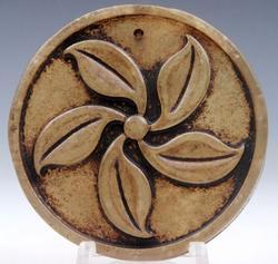 Jade Hand Carved Spinning Tree Leaves Pendant
