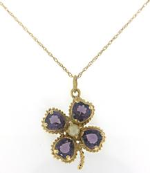 Lovely Flower Amethyst and Pearl Necklace
