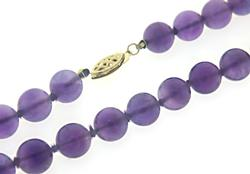 Natural Amethyst Long Necklace