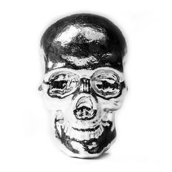 10oz Atlantis Mint Hand Poured .999 Silver Skull