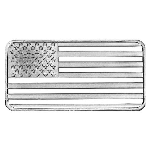SilverTowne 10oz Silver Bar Flag Design