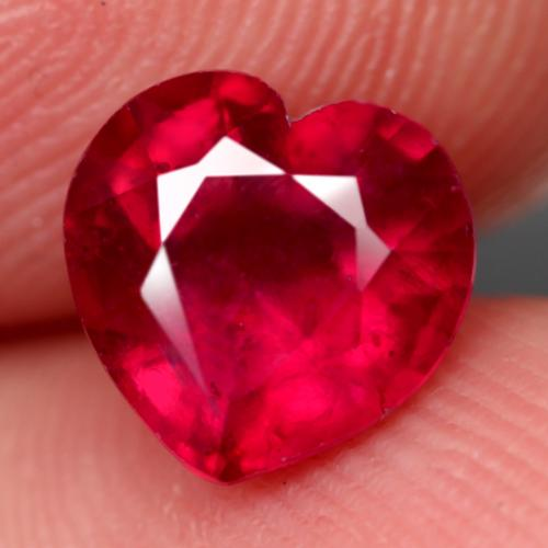 Captivating 3.84ct prime red heart cut Ruby