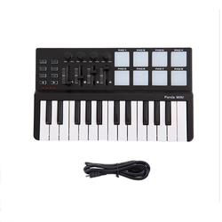 25-Key USB Keyboard and Drum Pad MIDI Controller