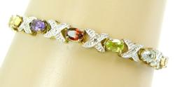 Two-Tone Sterling Vermeil Gemstone Bracelet