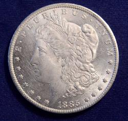 BU 1885-O Morgan Silver Dollar