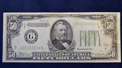 Nicer 1934 $50 Chicago FRN, Circ