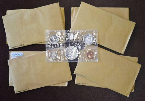 9 Canada Silver Proof Sets 2x64, 2x65, 66x3, 67x2