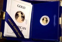 1989 1/10 oz Proof Gold Eagle