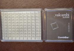 100 G. VALCAMBI COMBIBAR .999 Silver