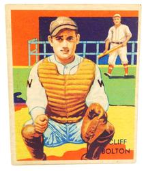 Cliff Bolton, Senators 1935 National Chicle Co. Baseball Card