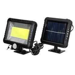 30W Solar Power COB 100LED PIR Sensor Motion Flood Lamp