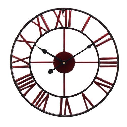 40CM Vintage Roman Numerals Clock Giant Open Face Metal