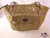 Coach Camel Tan Nylon Medium Satchel Tote Bag