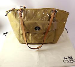 Coach Camel Tan Nylon Medium Satchel Tote Bag