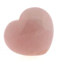 Rose Quartz Heart Carved Stone