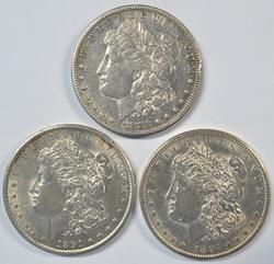 3 Scarcer, nicer Morgan Dollars: 1883-S, 91-S, & 97-S