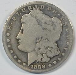 Key date 1888-S Morgan Silver Dollar in circ