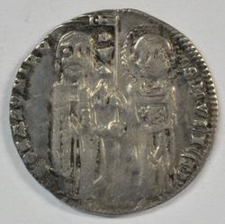 Great Venice Silver Grosso from 1289-1311 with Christ