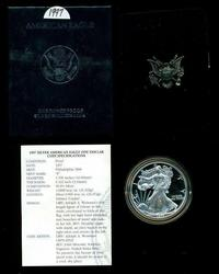3 Different US Proof Silver Eagles: 1997, 1998, & 2001.