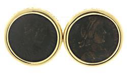Constantine II Bezel Set Earrings