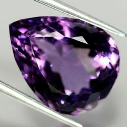 High fire 17.66ct pear cut unheated Amethyst