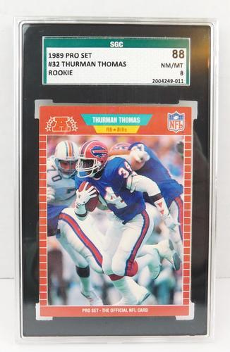 1989 Thurman Thomas Rookie Football Card, NM/MT8