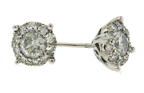 Classic 1ctw Diamond Cluster Earrings