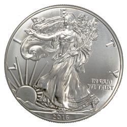 2016 Choice Frosty White BU Silver Eagle