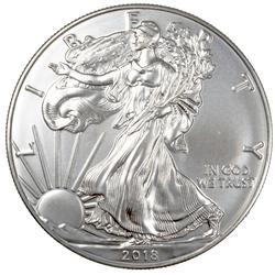 2018 Choice Frosty White BU Silver Eagle