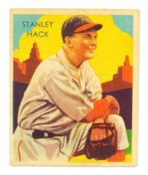 Rare Stanley Hack 1935 National Chicle Baseball Card