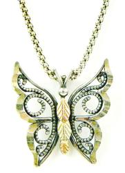 Sterling & 12KT Gold Butterfly Necklace