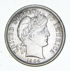 1904-S Barber Dime - Circulated
