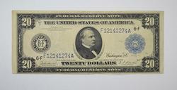 Series 1914 $20 Bank of Atlanta GA Blue Seal Federal Reserve Note