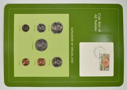 Coin Sets of All Nations - Kingdom of Swaziland - Stamp & Coin Set