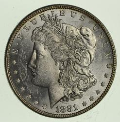 1881 Morgan Silver Dollar - Uncirculated