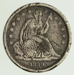 1839 Seated Liberty Silver Dime - Circulated