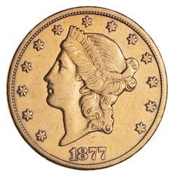 1877-CC $20 Liberty Head Gold Double Eagle