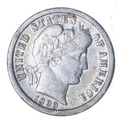 1899-O Barber Silver Dime - Circulated