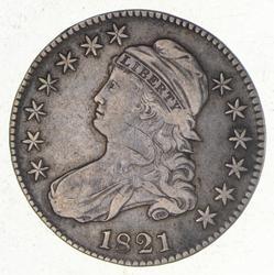 1821 Capped Bust Half Dollar - O-104