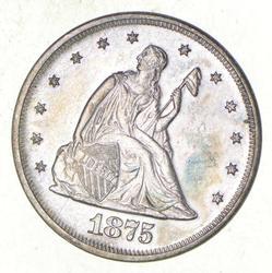 1875 Seated Liberty Twenty-Cent Piece