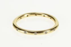 14K Yellow Gold Pandora Droplets CZ Stacking Wedding Band Ring